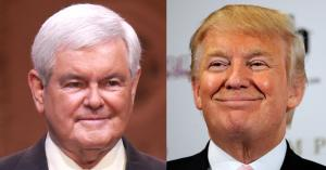 Newt-Gingrich-vs-Donald-Trump